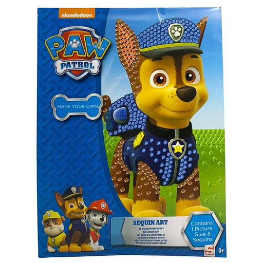PAW PATROL MAKE YOUR OWN SEQUIN ART PACK
