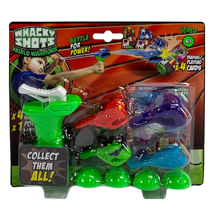 WHACKY SHOTS WORLD WARRIORS STARTER PACK PLAY SET