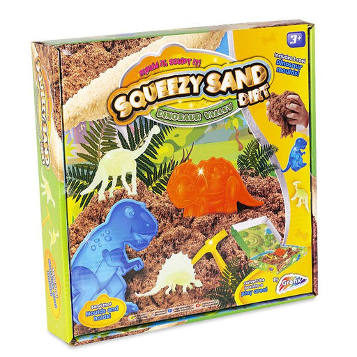 DINOSAUR VALLEY SQUEEZY SAND DIRT PLAY SET
