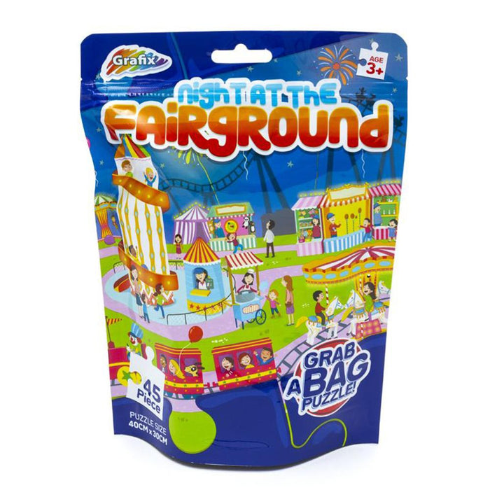 Grafix Night At The Fairground 45pc Grab A Bag Puzzle