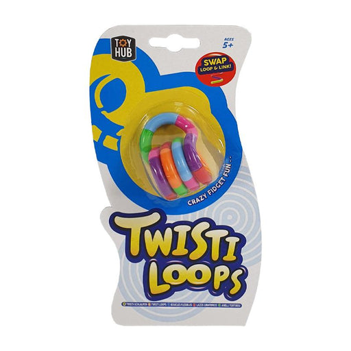 TWISTI LOOPS FIDGET MULTI COLOUR TANGLE TOY