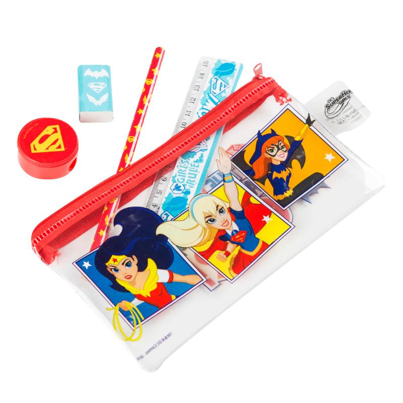 DC SUPERHERO GIRLS FILLED PENCIL CASE