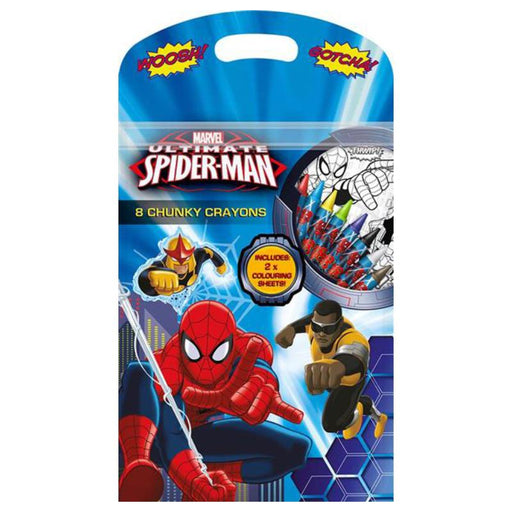 ULTIMATE SPIDERMAN 8PC CHUNKY CRAYONS