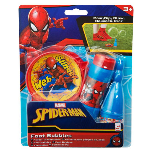 SPIDERMAN BLOW BOUNCE & KICK FOOT BUBBLES