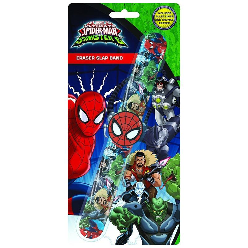 SPIDERMAN ERASER & RULER SLAP BAND