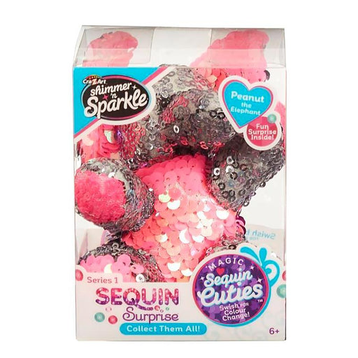 SEQUIN SURPRISE PETS PEANUT THE ELEPHANT MINI PLUSH TOY