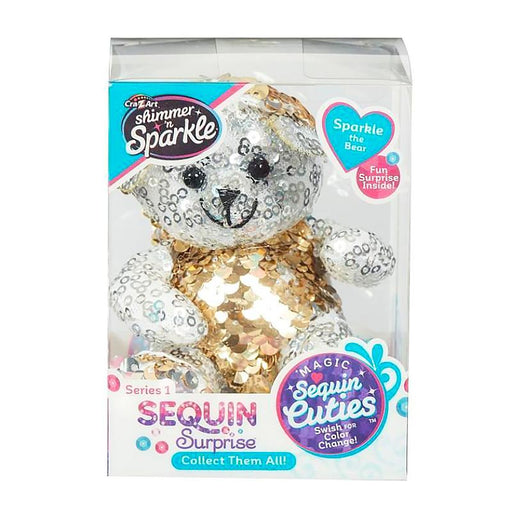 SEQUIN SURPRISE PETS SPARKLE THE BEAR MINI PLUSH TOY