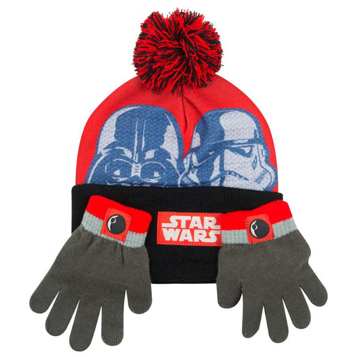 STAR WARS BOBBLE HAT & GLOVE SET