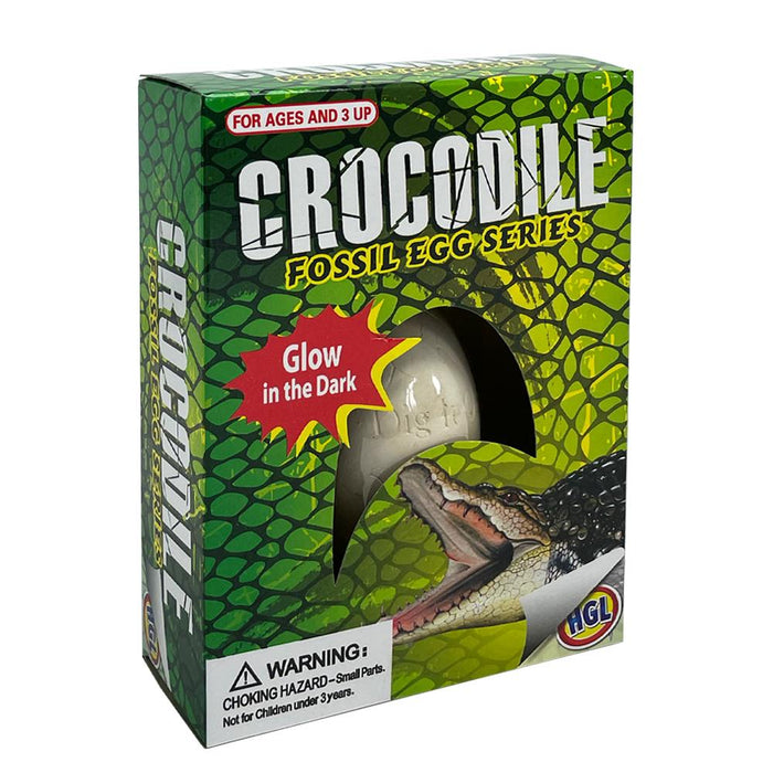 Crocodile Glow In The Dark Fossil Dig It Out Egg