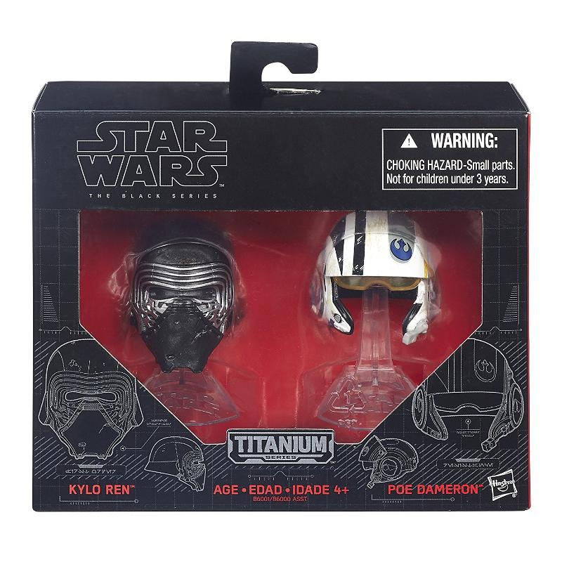 STAR WARS KYLO REN & POE DAMERON DIE-CAST MINI HELMET SET
