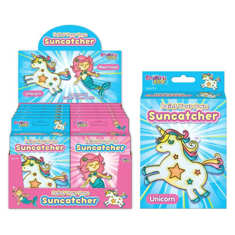 PAINT YOUR OWN SUNCATCHER UNICORN OR MERMAID