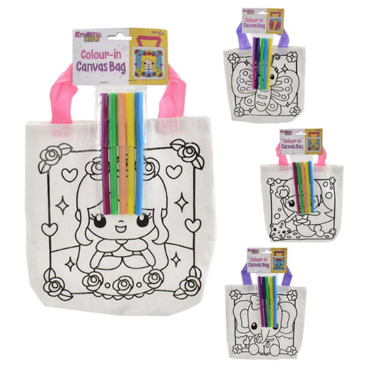 Colour Your Own Mini Canvas Bag