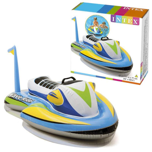 INTEX WAVE RIDER INFLATABLE RIDE-ON LILO SWIMMING POOL FLOAT