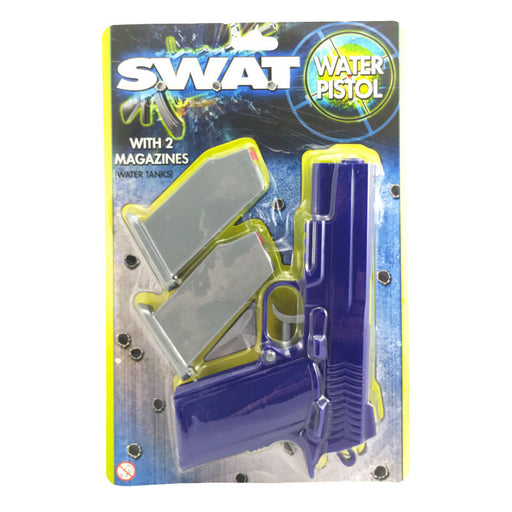 SWAT WATER PISTOL WITH 2 MAGAZINES
