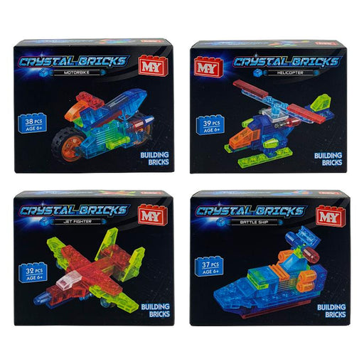 CRYSTAL BRICKS MINI VEHICLE BUILDING BRICKS SET