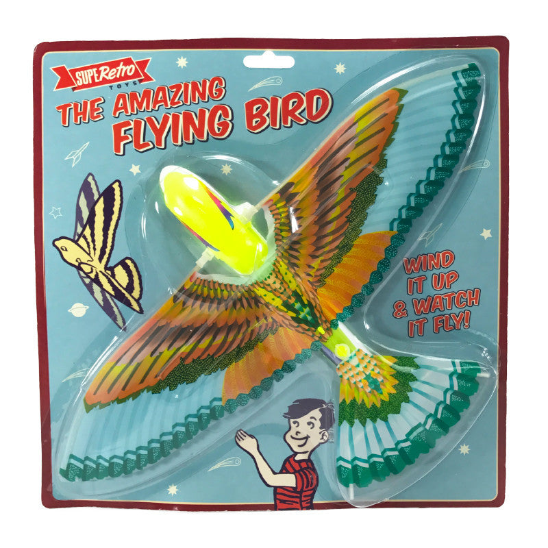 THE AMAZING WIND UP RETRO FLYING BIRD