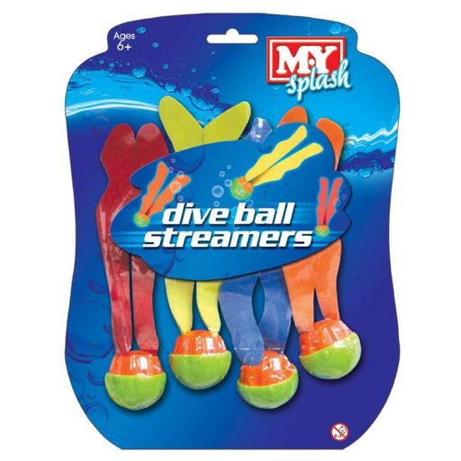 MY SPLASH DIVE BALL STREAMERS 4PC SET