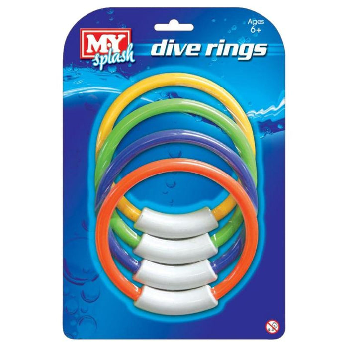 MY SPLASH DIVE RINGS 4PC SET
