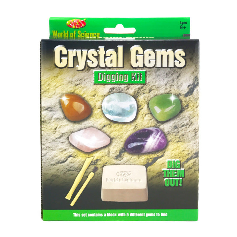 CRYSTAL GEMS EXCAVATION DIGGING KIT