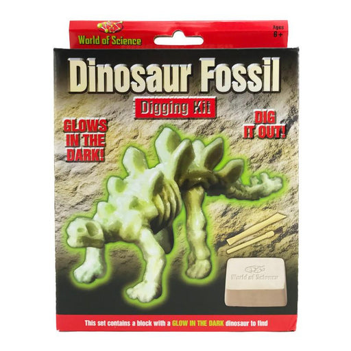 DINOSAUR FOSSIL GLOW IN THE DARK DIGGING KIT