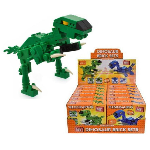 DINOSAUR BUILDING BRICKS SET