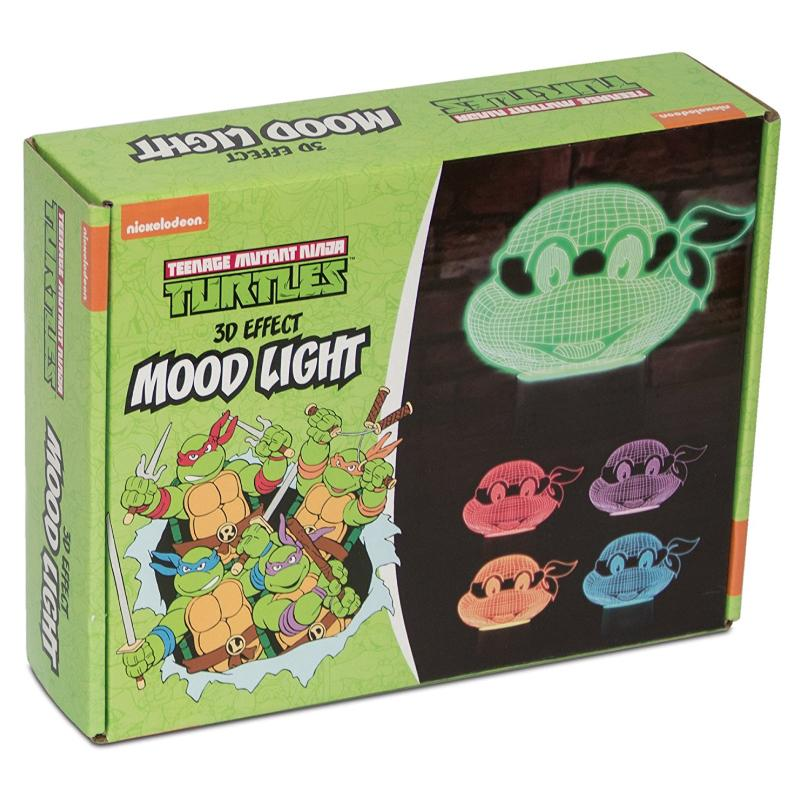 NINJA TURTLES 3D EFFECT COLOUR CHANGING MOOD LIGHT