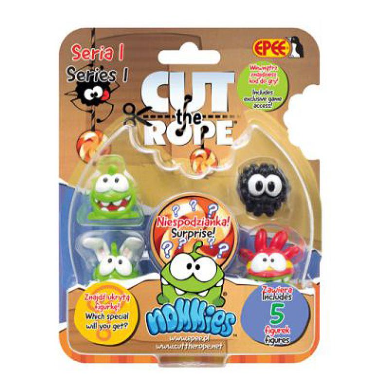 CUT THE ROPE NOMMIES 5 PACK MINI FIGURE SET