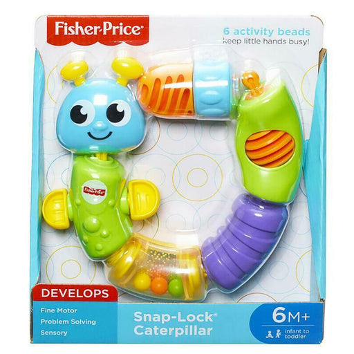 FISHER PRICE SNAP LOCK CATERPILLAR TODDLER ACTIVITY TOY