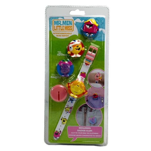MR MEN LITTLE MISS INTERCHANGEABLE HEAD WATCH - PINK
