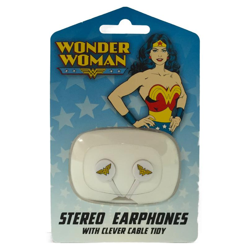 DC WONDER WOMAN EARPHONES WITH CLEVER CABLE TIDY