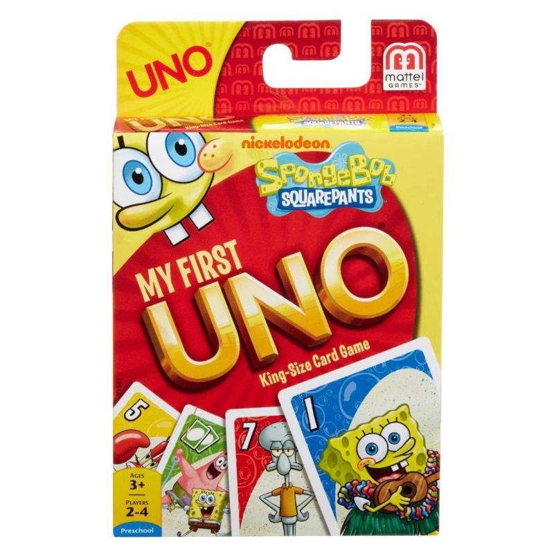 MY FIRST UNO SPONGEBOB SQUAREPANTS KING SIZE CARD GAME