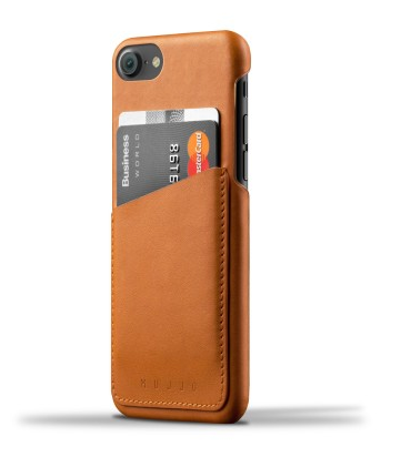 Housse iPhone/ Porte-cartes en cuir Brun