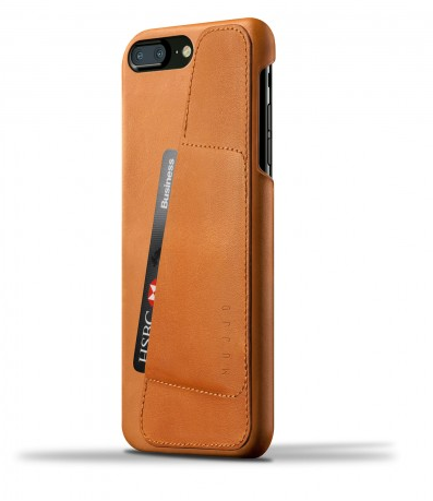 Housse iPhone Plus/ Porte-cartes en cuir Brun