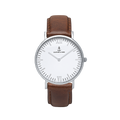 Montre Silver Brown Leather