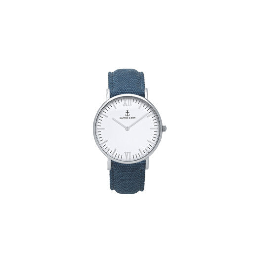 Montre Silver Blue Canvas