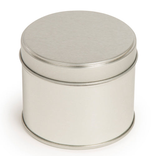 Silver welded side seam tin with slip lid