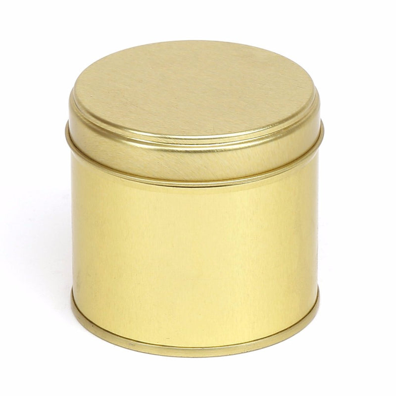 Gold Round Welded Side Seam Tin