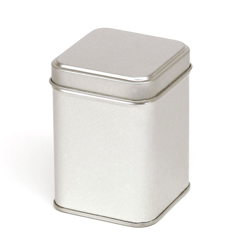 Silver Square Stepped Lid Tin
