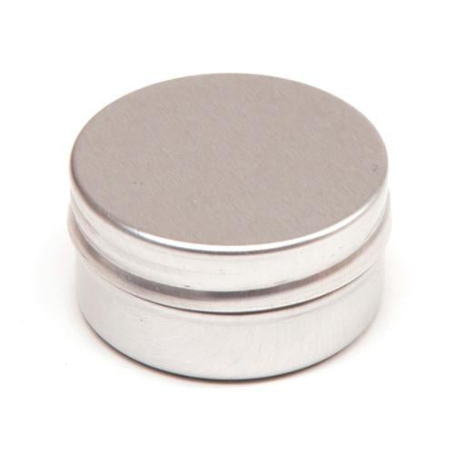 Round aluminium tin container with smooth lid and EPE liner - T9301