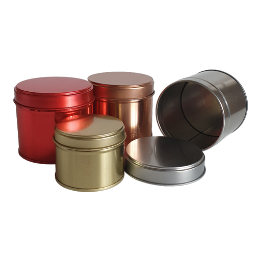 Welded side seam tin packaging collection