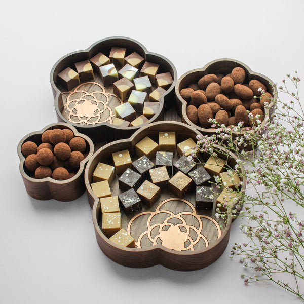 Flower Tray with Copper Enlays