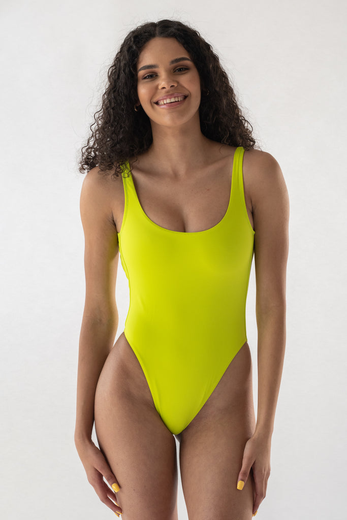 Aster swimsuit in Lime (ECONYL®)