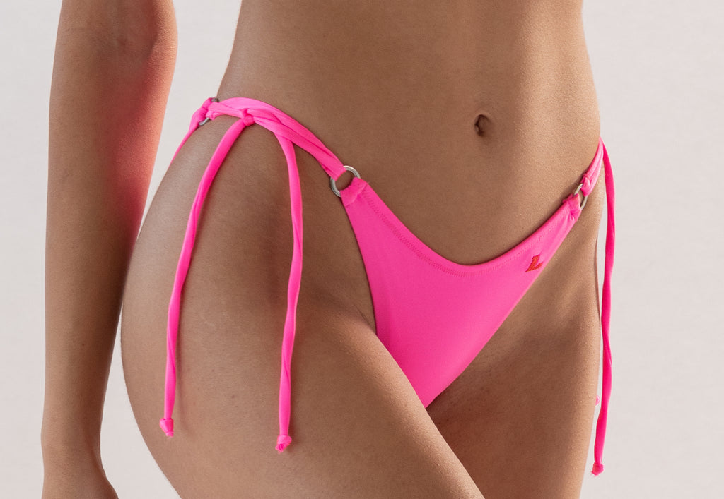 Sweetpea bikini bottom in Hot-Pynk