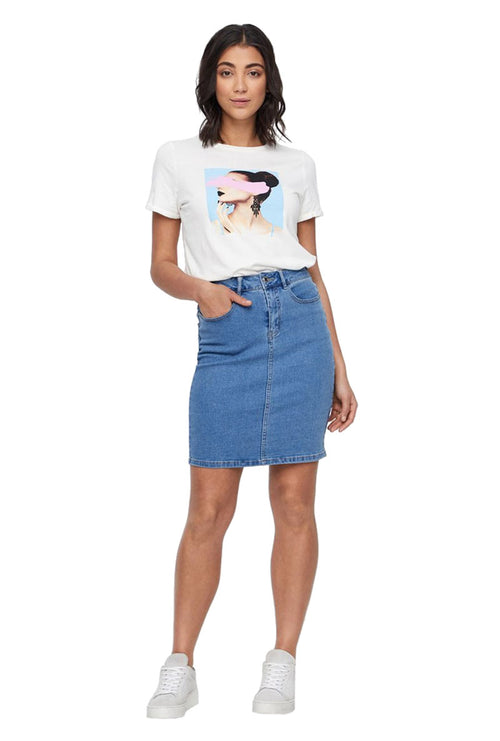 NINE DENIM PENCIL SKIRT-London Clothing Company ®