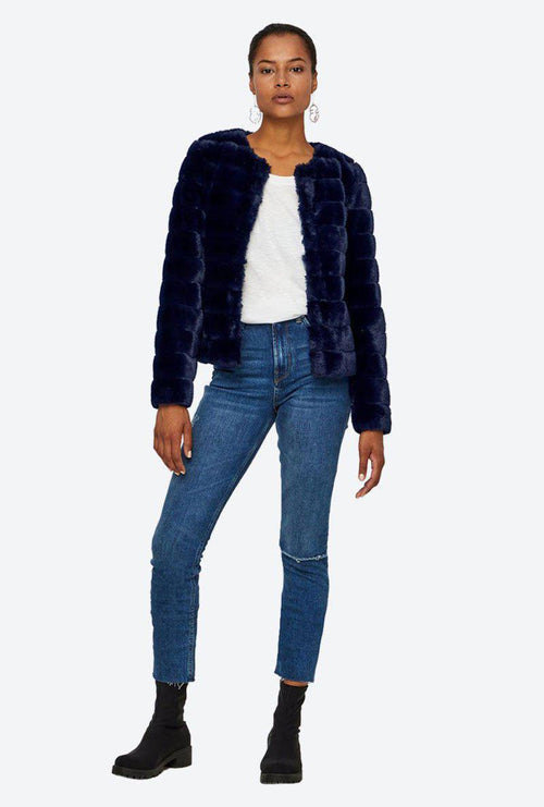 AVENUE FAUX FUR SHORT JACKET-London Clothing Company ®