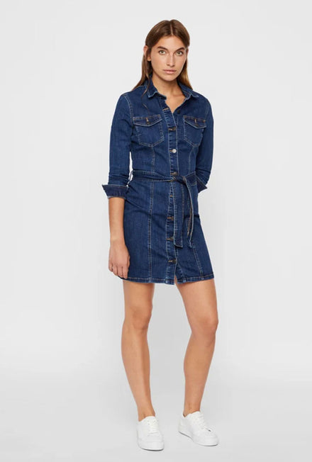 VERO MODA TARA SHORT DENIM DRESS