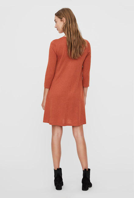 VERO MODA FELICITY O NECK DRESS