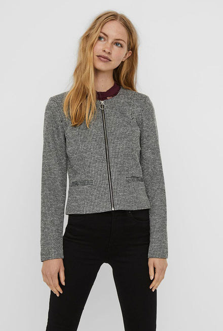 VERO MODA CHECK ZIP SHORT BLAZER