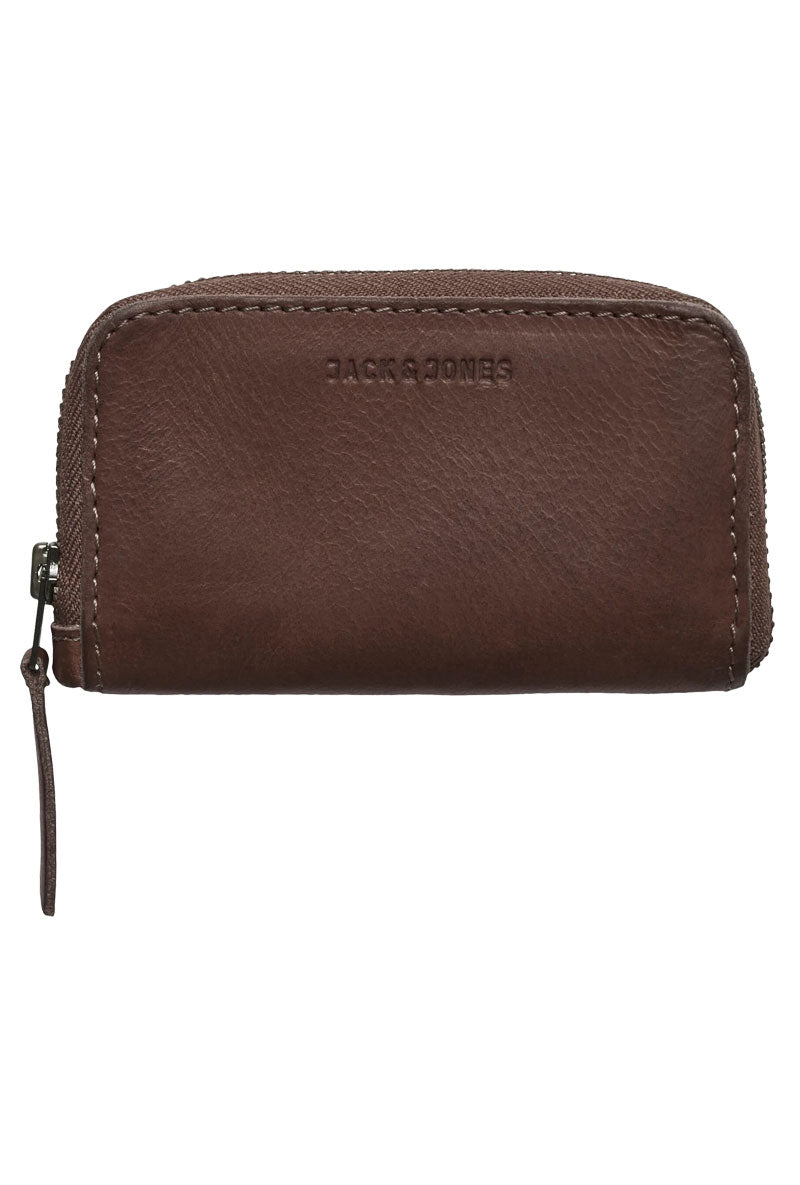 JACK AND JONES ZIP LEATHER WALLET