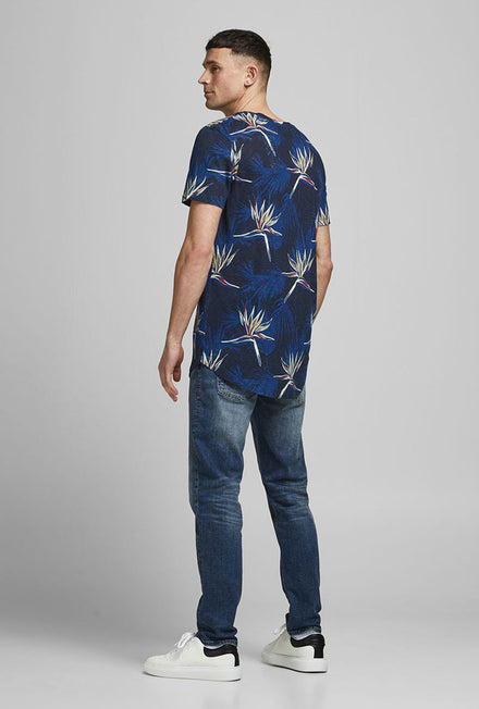 JACK AND JONES FLORALL CREW NECK TSHIRT